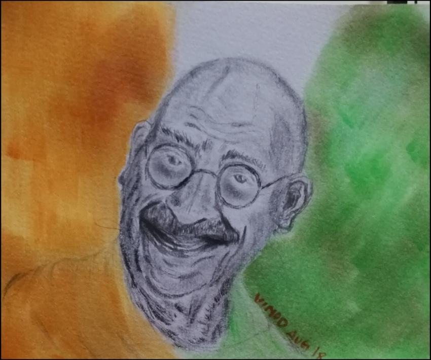 Mahatma Gandhi by vinodnair